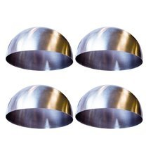 Lot de 4 moules dôme inox