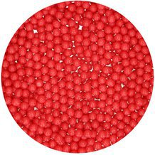 Perles en sucre 4mm - Rouge Brillant - 80g